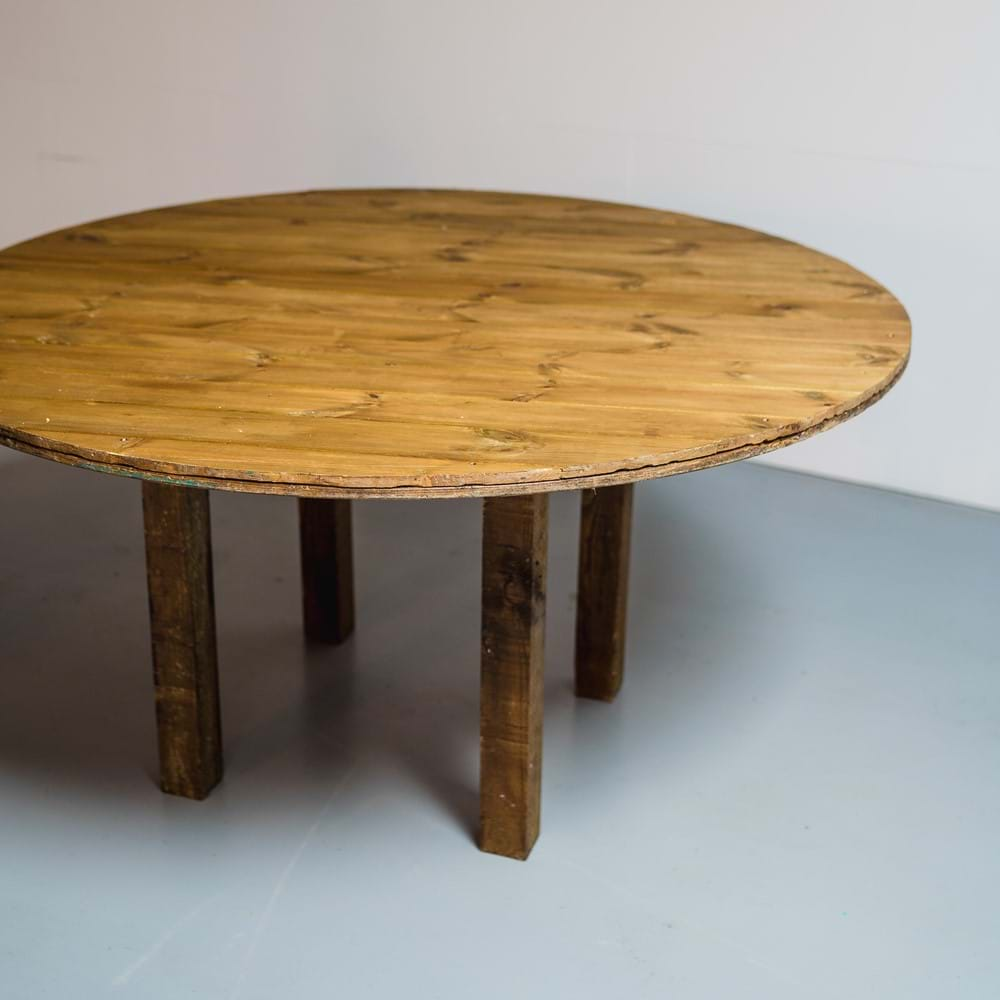 Rustic Round Table