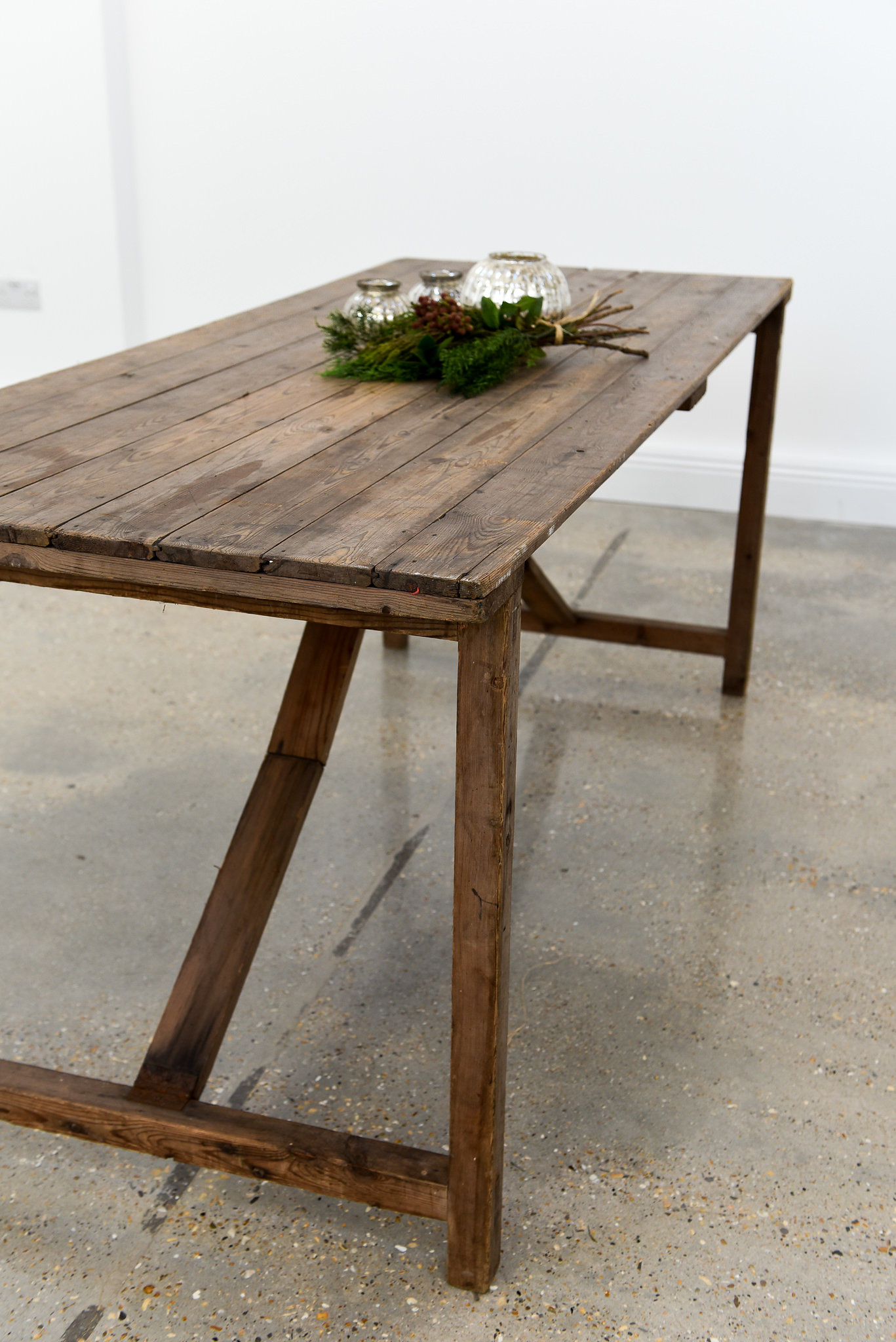 6ft x 2.6ft Vintage Trestle Table. 3 available.  £80